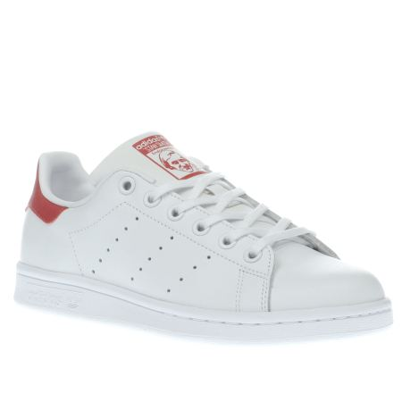 码全!adidas Performance Stan Smith粉尾 大童款  特价低至$42.00