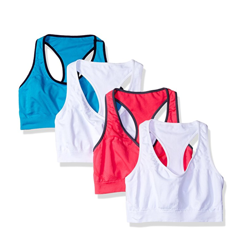 Hanes Jogbra 女款運動內衣 4件裝,現僅售$10.37