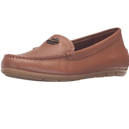 COACH蔻慈 Mary 女士荔枝皮乐福鞋,原价$150.00,现仅售$42.00,免运费
