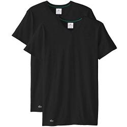 好价!Lacoste Colours 男士V领弹力T恤衫,2件装,原价$36.50,现仅售$16.17