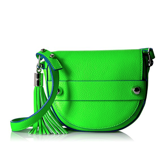 MILLY Astor Small Crossbody Saddle 斜跨包, 现仅售$65.86,免运费!