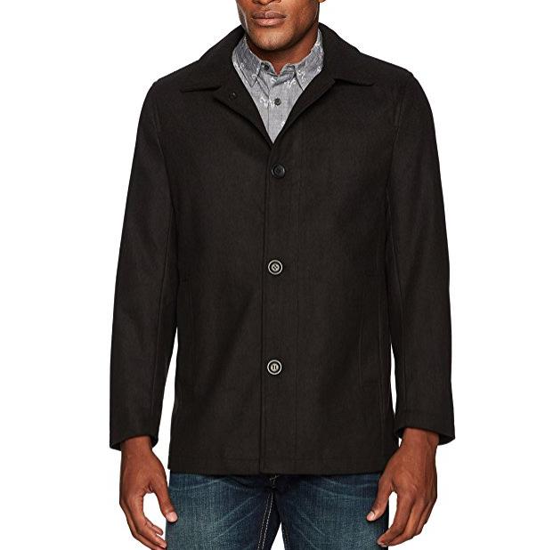 百分百羊毛!Hawke & Co Seville Wool Melton男大衣, 现仅售$19.18