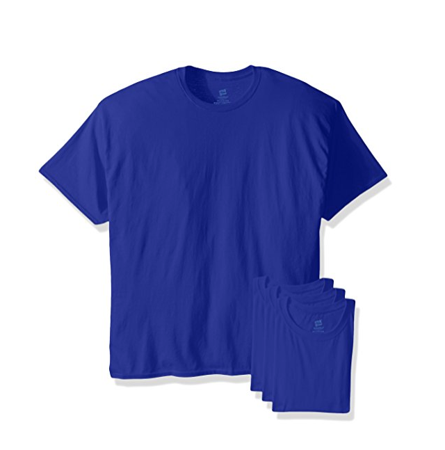 Hanes 恒适 男士圆领打底T恤4件装, 现仅售$8.32