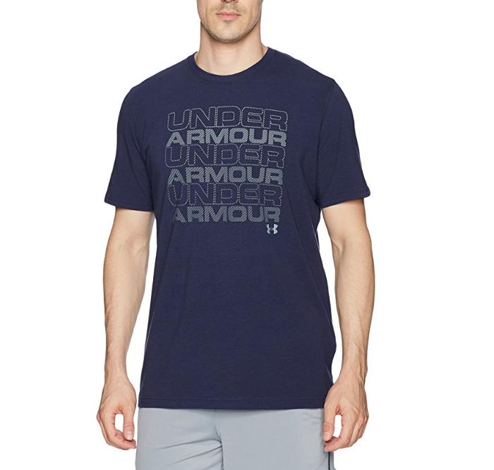 降!弹力速干!UA安德玛Keep Stacking男士T恤, 现仅售 $11.50