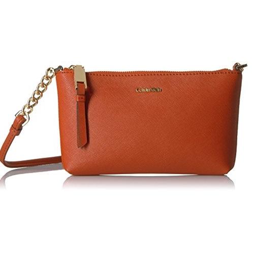 Calvin Klein Hayden Saffiano 女士斜挎包,原价$98.00,现仅售$43.77,免运费