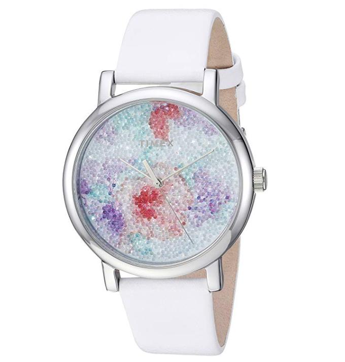 Timex 施华洛世奇水晶时装女表 3色款 ,现仅售$ $42.25, 免运费!