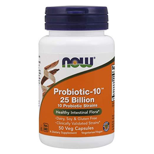 史低价!NOW Foods诺奥 Probiotic 10 复合活性益生菌,50粒,原价$29.99,现仅售$10.54,免运费