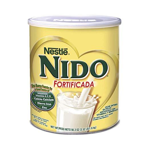全家都能喝的奶粉!Nestle Nido 雀巢全脂奶粉,3.52磅,原价$18.00,现仅售$11.91,免运费