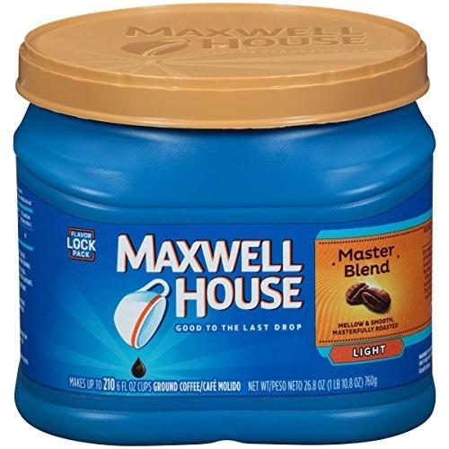 史低价!Maxwell House 大师特调咖啡粉 轻度烘焙,26.8 oz, 现仅售$4.74, 免运费!