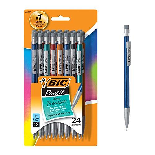 白菜价!BIC Pencil 0.5mm 自动铅笔,24支,原价$12.80,现仅售$3.49,免运费!